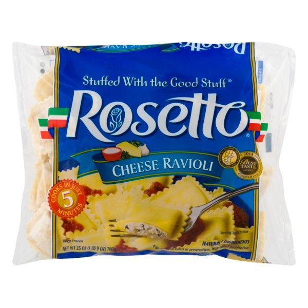 Rosetto Ravioli Cheese - 45 ct Frozen
