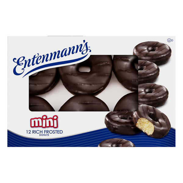Entenmann's Mini Donuts Chocolate Frosted - 12 ct
