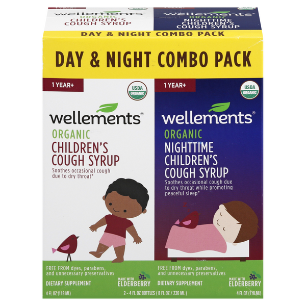 Wellements Children's Day & Night Cough Syrup Organic Combo Pack
