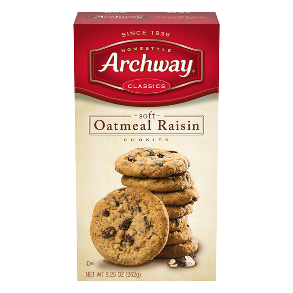 Archway Homestyle Oatmeal Cookies Raisin Classic Soft