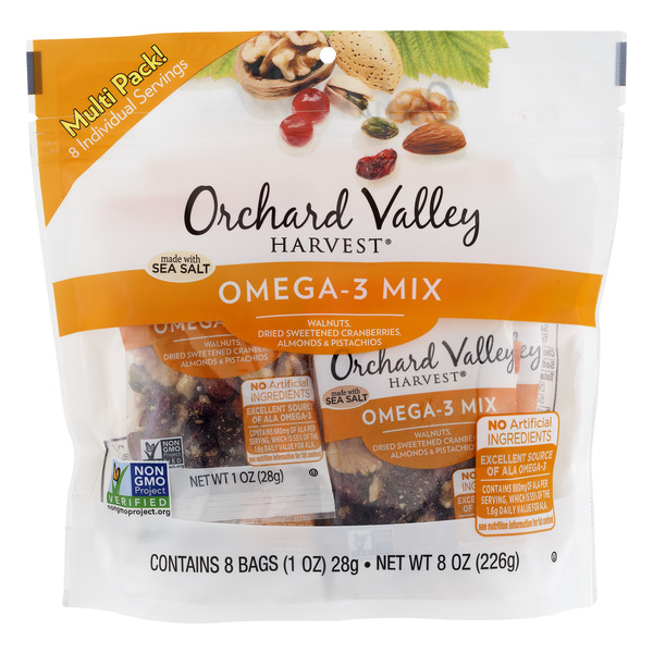 Orchard Valley Harvest Trail Mix Omega - 3 Mix - 8 ct
