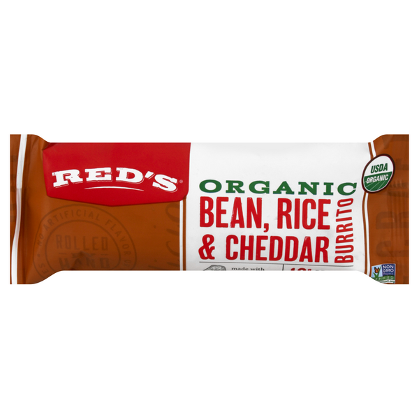 Red's Burrito Bean, Rice & Cheddar Organic Frozen