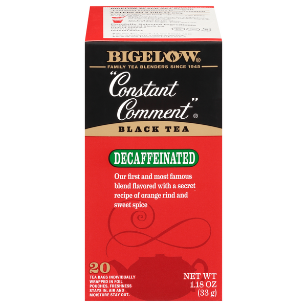 Bigelow Constant Comment Black Tea Bags Decaffeinated
