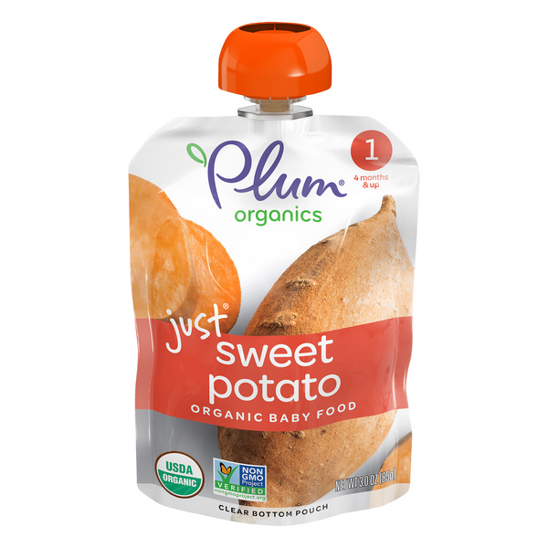 Plum Organics Stage 1 Baby Food Just Sweet Potato Organic