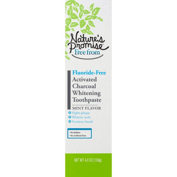 Nature's Promise Free from Toothpaste Activated Charcoal Whitening Mint