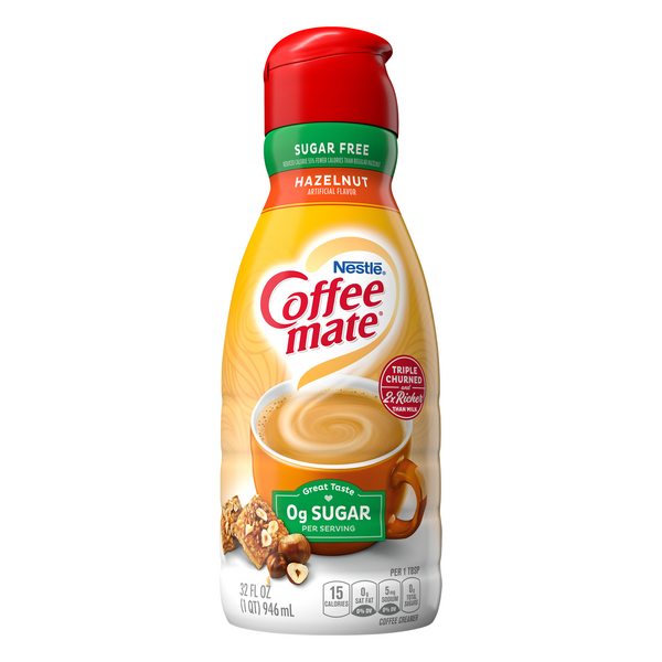 Nestle Coffee-mate Liquid Coffee Creamer Hazelnut Sugar Free Refrigerated
