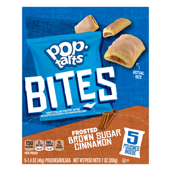 Pop-Tarts Bites Frosted Brown Sugar Cinnamon - 5 ct