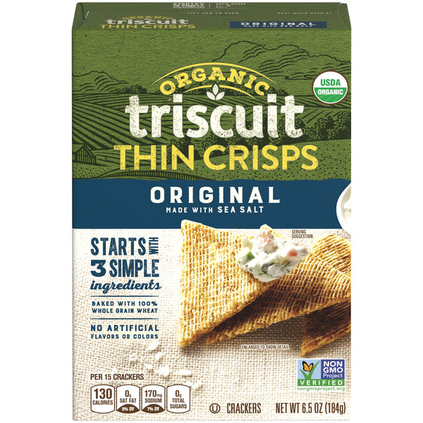 Nabisco Triscuit Thin Crisps Crackers Original Organic