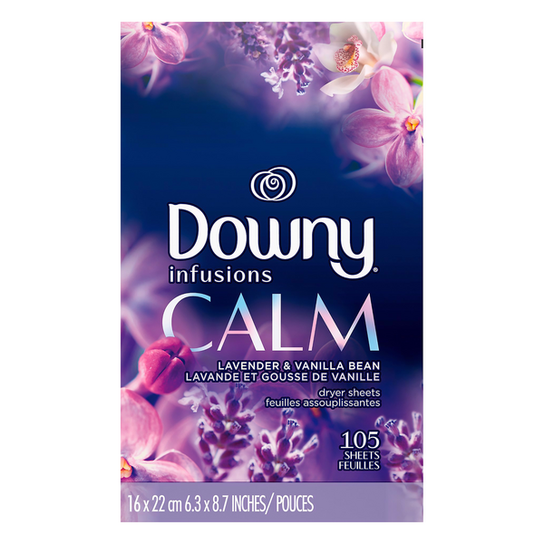 Downy Infusions Calm Lavender & Vanilla Bean Dryer Sheets
