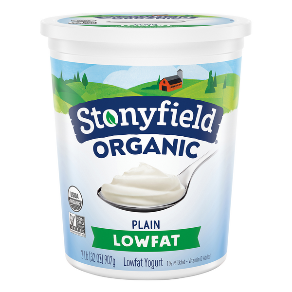 Stonyfield Organic Yogurt Plain Low Fat