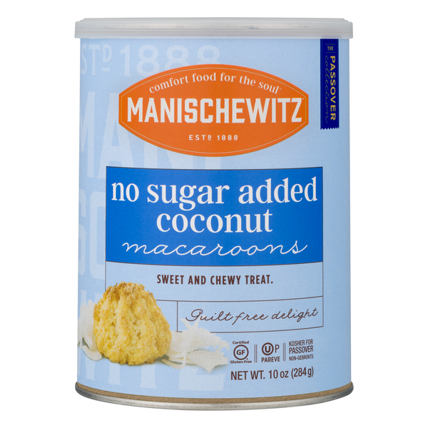 Manischewitz Macaroons Coconut No Sugar Added Kosher for Passover