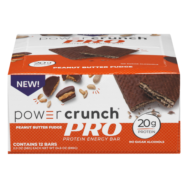 Power Crunch Pro Protein Energy Bar Peanut Butter Fudge - 12 ct