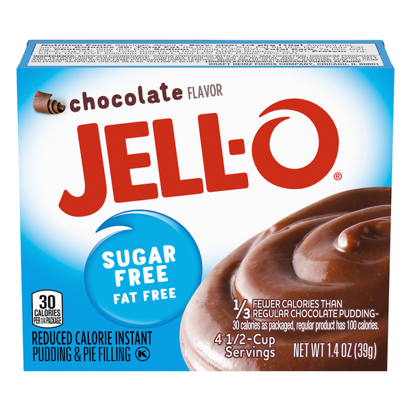 Jell-O Instant Pudding & Pie Filling Fat & Sugar Free Chocolate