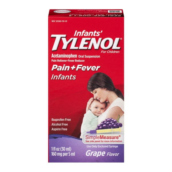 Infants' Tylenol Pain + Fever Infants Liquid Grape