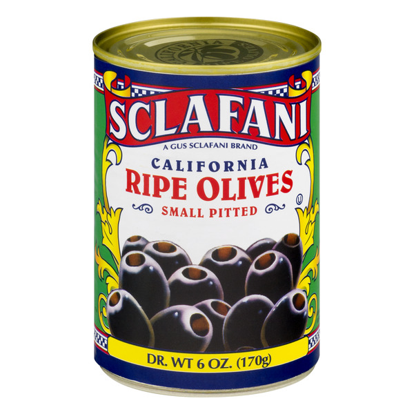 Sclafani Black Olives Small Pitted