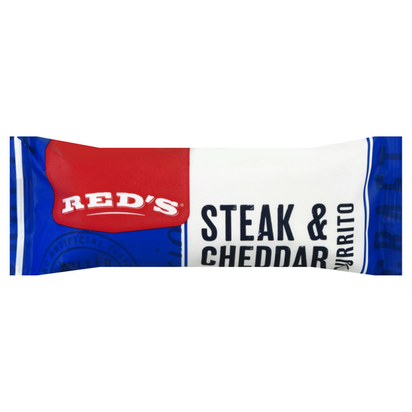 Red's Natural Foods Burrito Steak & Cheddar Frozen