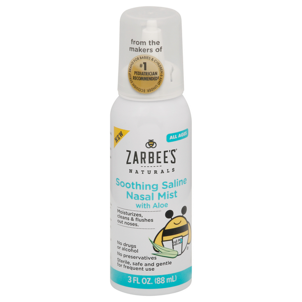 Zarbee's Naturals Soothing Saline Nasal Mist with Aloe