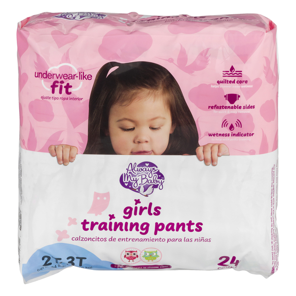 Always My Baby Girls 2T-3T Training Pants Up to 24 lbs