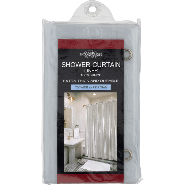 Royal Crest Shower Liner Clear 70 X 72 Inch