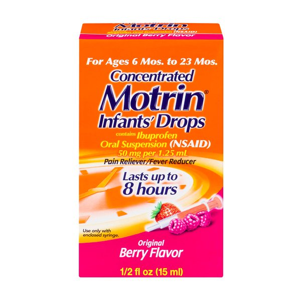 Motrin Infants' Concentrated Drops Original Berry Flavor