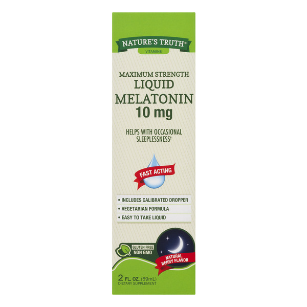 Nature's Truth Liquid Melatonin 10 MG Gluten Free