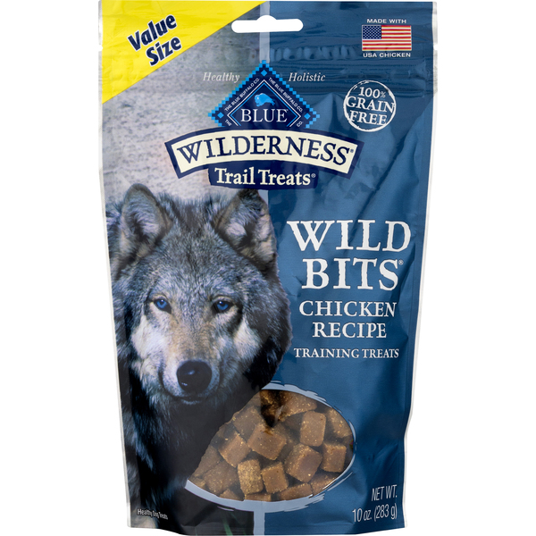 BLUE Buffalo Wilderness Trail Treats Wild Bits Chicken Training Treats