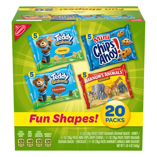 Nabisco Cookies & Crackers Fun Shapes! Variety Pack - 20 pk