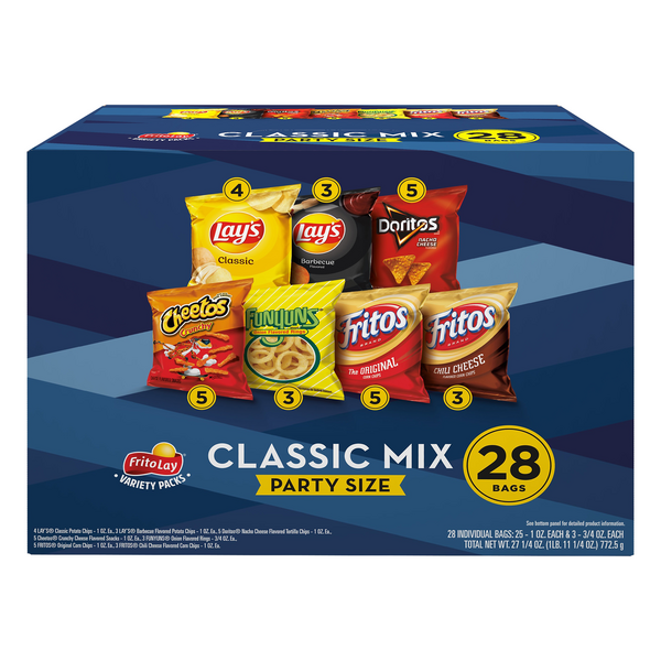 Frito-Lay Party Mix Variety Pack - 28 ct