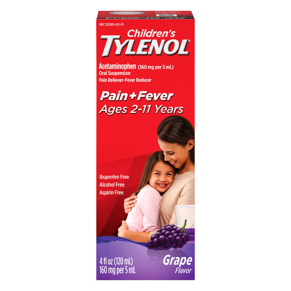 Tylenol Children's Pain + Fever Oral Suspension Grape Liquid
