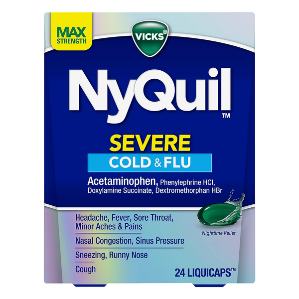 Vicks NyQuil Severe Cold & Flu Nightime Relief LiquiCaps