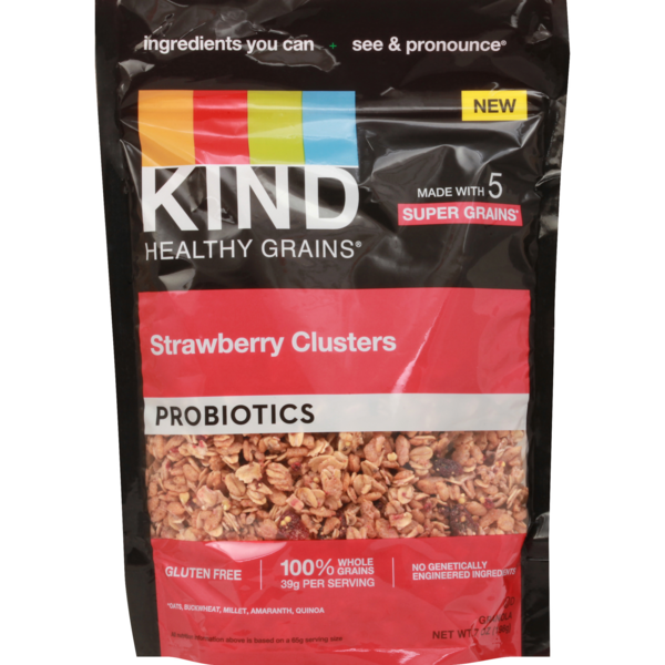 KIND Healthy Grain Probiotic Clusters Strawberry Gluten Free