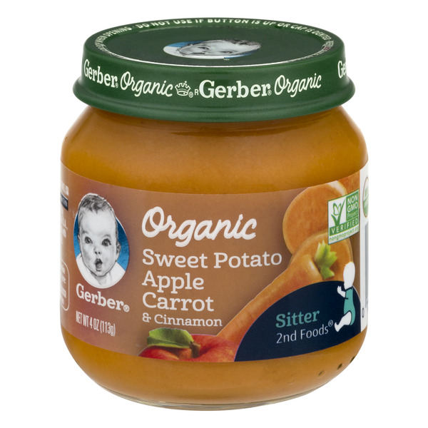 Gerber Stage 2 Baby Food Sweet Potato Apple Carrot & Cinnamon Organic