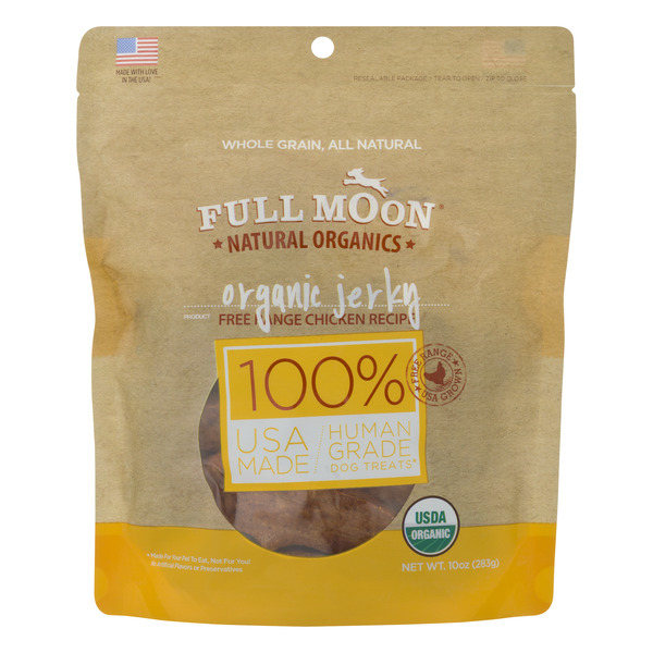 Full Moon Jerky Human Grade Dog Treats Chicken Organic