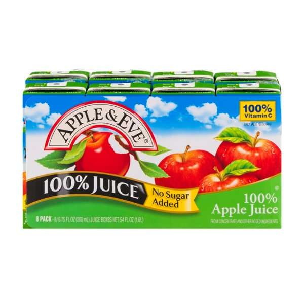 Apple & Eve 100% Apple Juice Boxes No Sugar Added - 8 pk