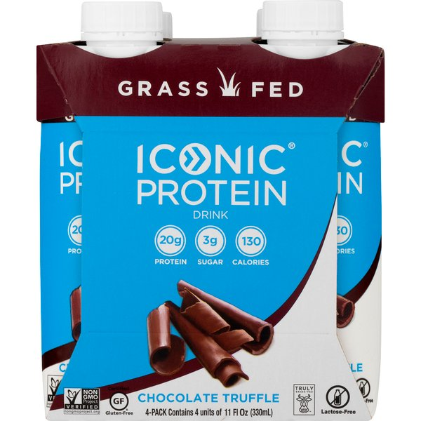 Iconic Protein Drink Chocolate Truffle - 4 pk