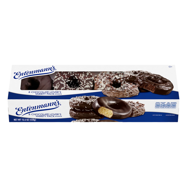Entenmann's Donuts Chocolate Lover's Variety Pack - 8 ct