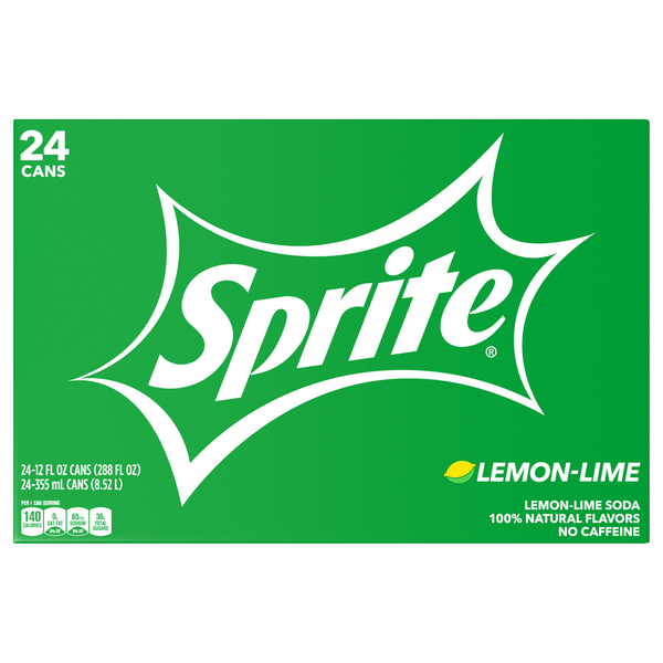 Sprite Lemon Lime Soda - 24 pk