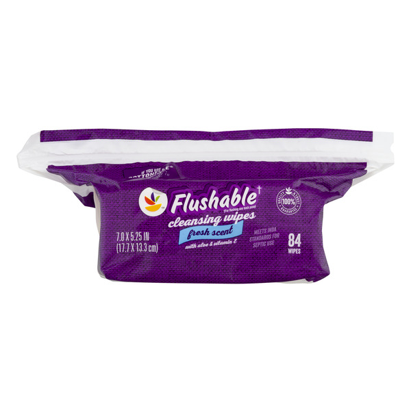 MARTIN'S Flushable Cleansing Wipes Fresh Scent Resealable Refill Pack