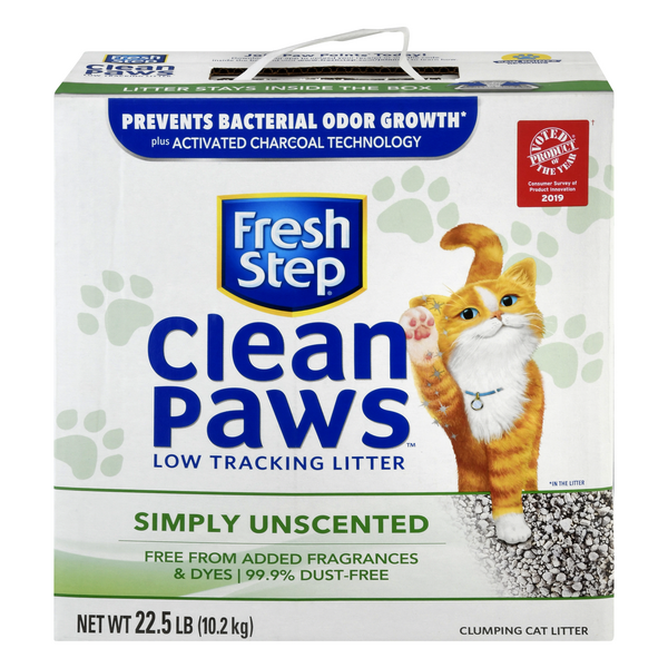 Fresh Step Clean Paws Cat Litter Clumping Unscented