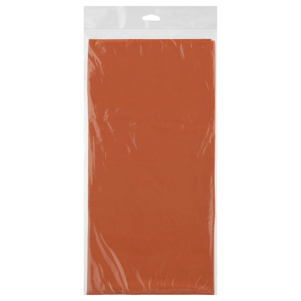 Creative Converting Celebrations Plastic Tablecover SK Orange 54 X 108 in