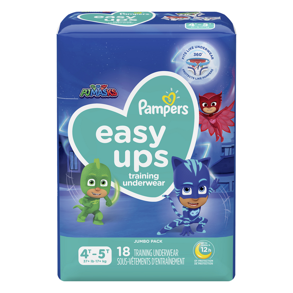Pampers Easy Ups PJ Masks 4T-5T Training Pants Boys 35+ lbs Jumbo Pack