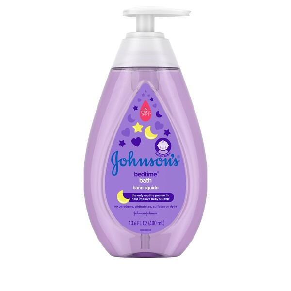 Johnson's Baby Bath Bedtime No Parabens Phthalates Sulfates or Dyes