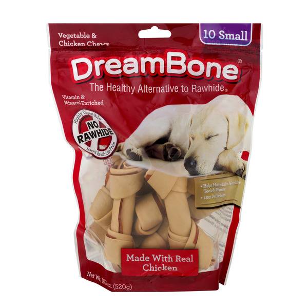 DreamBone Small Chews Vegetable & Chicken - 10 ct