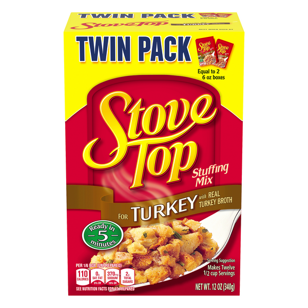 Kraft Stove Top Stuffing Mix For Turkey Twin Pack