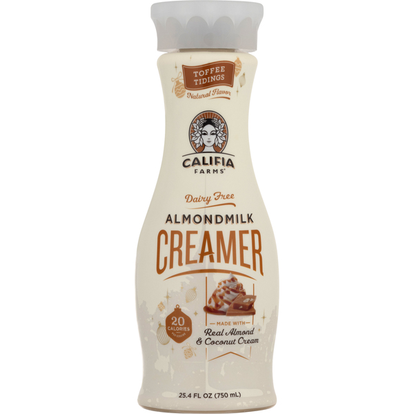 Califia Farms Almond Milk Creamer Toffee Dairy Free Refrigerated