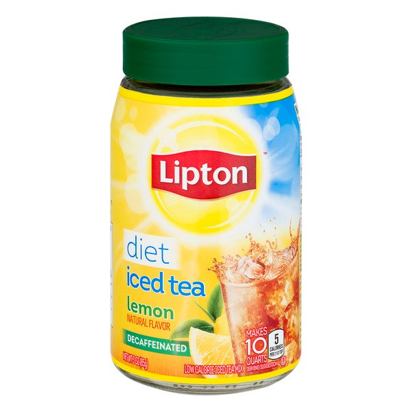 Lipton Iced Tea Mix Lemon Low Calorie Decaffeinated