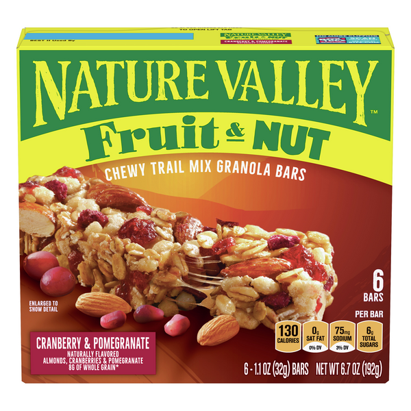 Nature Valley Chewy Trail Mix Bars Cranberry & Pomegranate - 6 ct