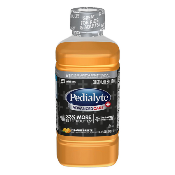 Pedialyte Advanced Care Electrolyte Solution Orange Breeze