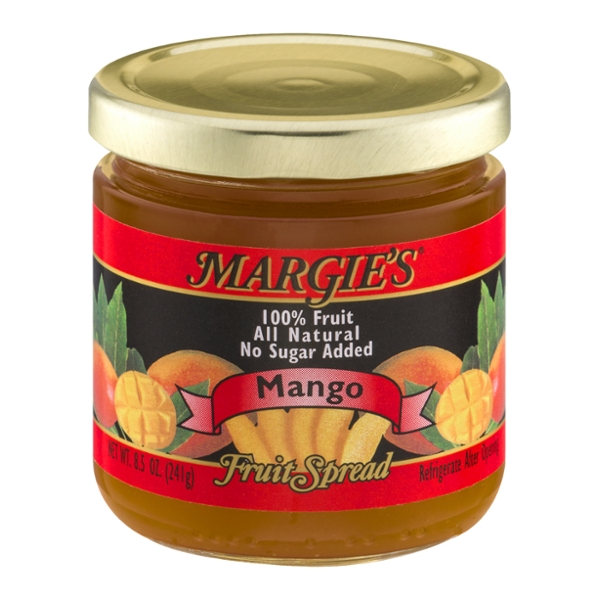 Margie's 100% Fruit Spread Mango No Sugar Added All Natural