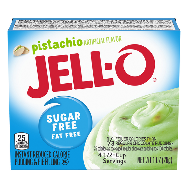 Jell-O Instant Pudding & Pie Filling Pistachio Fat & Sugar Free